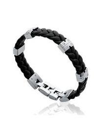 Bracelet Acier Cuir