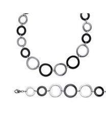 Bracelet / Collier Acier Ruthenium