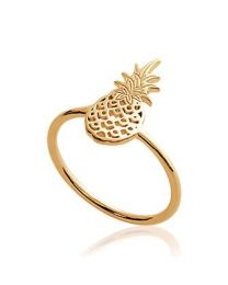 Bague Plaqué Or ananas