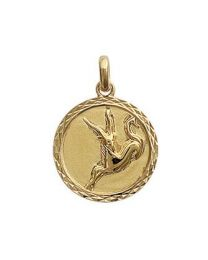 Signe du Zodiaque capricorne Plaqué Or