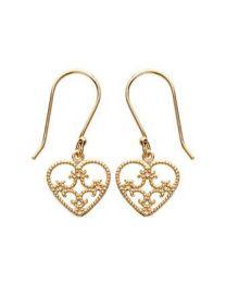 Boucles D'oreilles Plaqué Or coeur