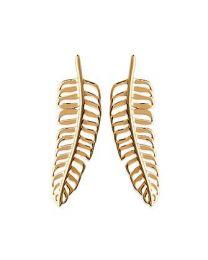 Boucles D'oreilles Plaqué Or plume