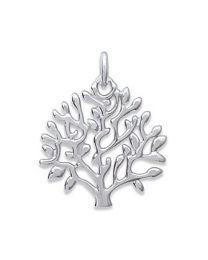 Pendentif Argent 925 Rhodié arbre